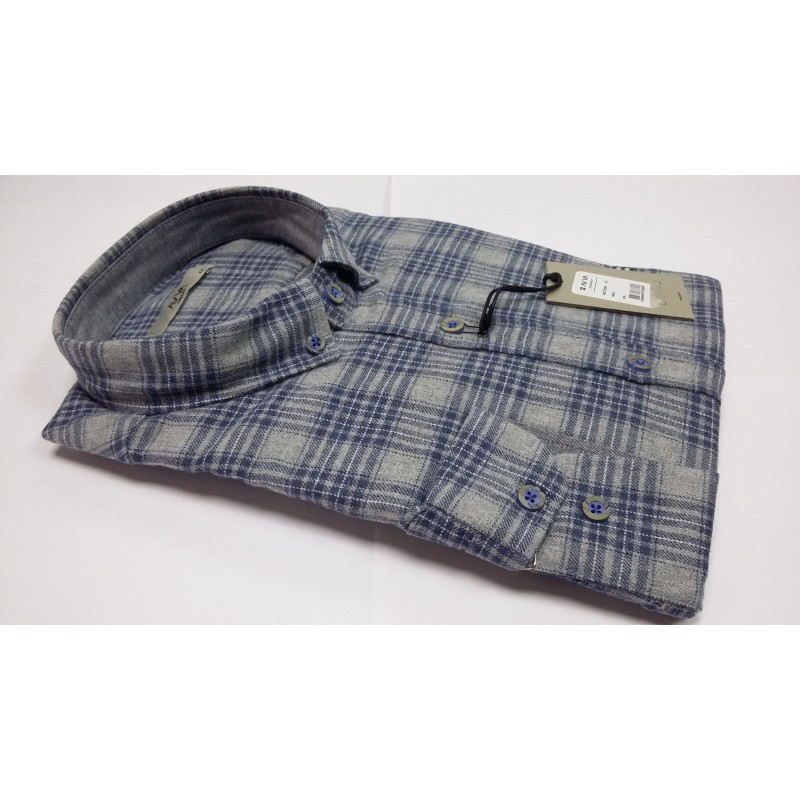 Мужская брендовая рубашка AVVA A82Y2208 02 MAVY